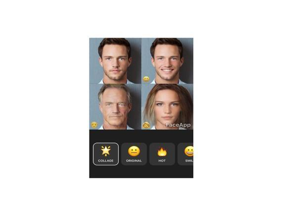 FaceApp is a filter app which uses neural networks to modify a person's face in a photo.