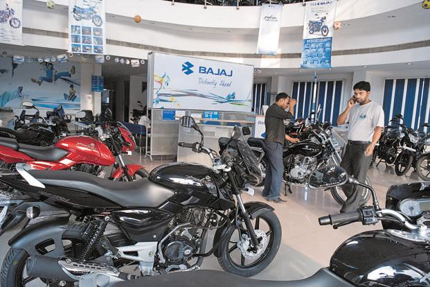 Bajaj's domestic sales fell 3% to 4.59 lakh units in the three months to December from a year ago. Photo: Mint