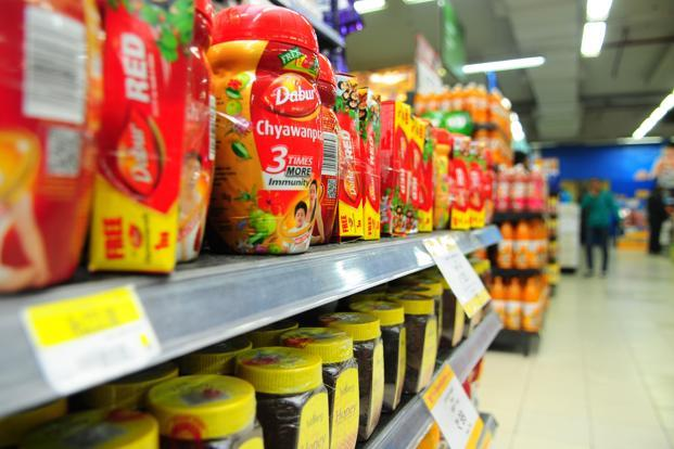 Dabur shares closed down 1.36% to Rs276.25 apiece on the BSE, while the benchmark Sensex index was lower by 194 points or 0.70% to 27,655.96. Photo: Mint