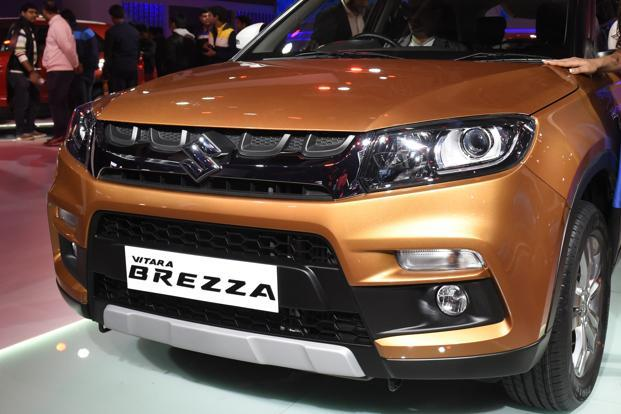Sales of utility vehicles doubled to 16,313 units as compared to 8,114 units last year, on the back of the compact SUV Brezza.  Photo: Hindustan Times