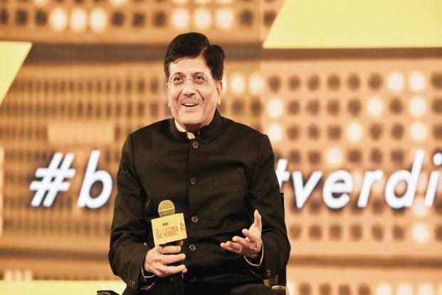 Power minister Piyush Goyal at the The Verdict, a Mint-CNBC budget conclave, in New Delhi on Thursday. Photo: Ramesh Pathania/Mint