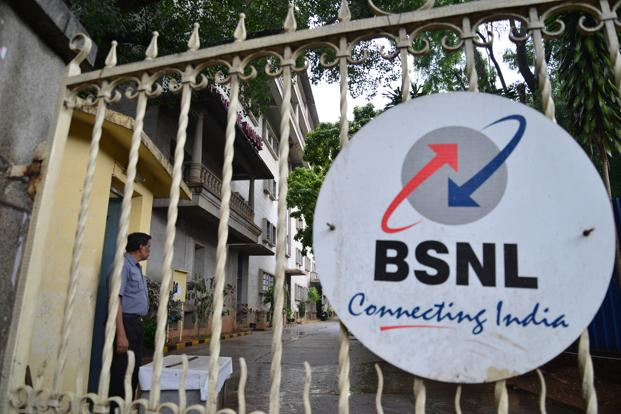 BSNL continues to dominate broadband market in fixed line services segment with 9.95 million customers and ranks fifth in mobile broadband space with 20.39 million subscribers. Photo: Hemant Mishra/Mint