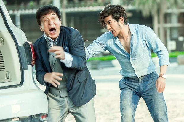 Jackie Chan (left) in a still from 'Kung Fu Yoga'.