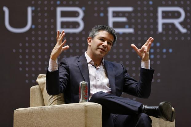 A file photo of Uber CEO Travis Kalanick during an interaction at the IIT -Mumbai in January 2016. Photo: Reuters