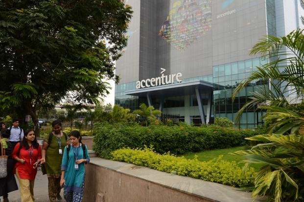Accenture's clients include Google, Facebook, Amazon, Uber and Airbnb which together accounted for at least $1 billion of the IT firm's $32.9 billion in revenue for the year ended August 2016. Photo: Hemant Mishra/Mint