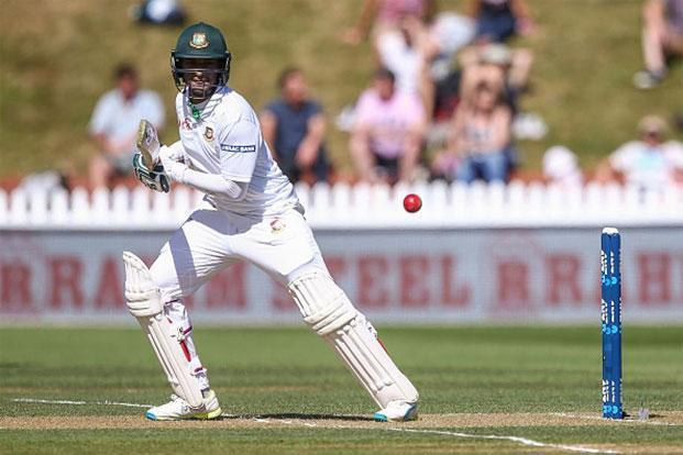 Shakib Al Hasan on his way to a score of 217 in the first Test against New Zealand in January. Photo: Getty Images