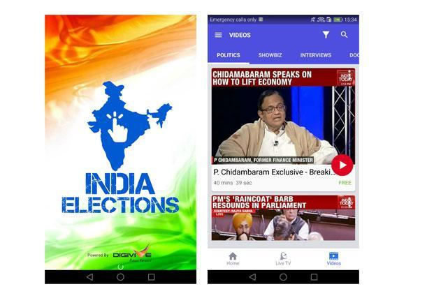 India Elections is primarily a video streaming app with a slightly different layout from the NexGTv apps