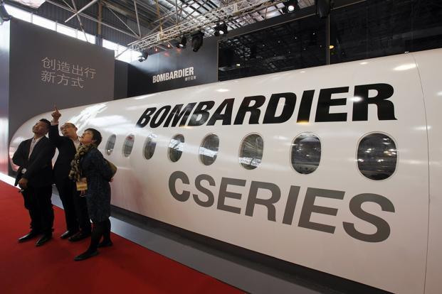 Bombardier's CSeries competes with some Embraer jets and the smallest products of Boeing and Airbus Group. Photo: Reuters