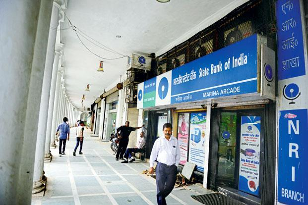 At SBI, slippages remained around Rs10,000 crore, unlike many of its peers, which showed a decrease. Photo:  Pradeep Gaur/Mint