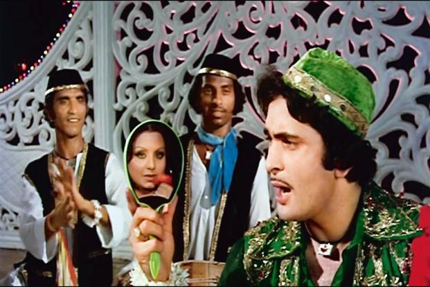 Rishi Kapoor's 'qawwali' sequence in 'Amar Akbar Anthony'.