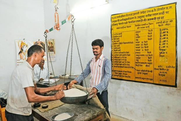 There are 5.58 lakh ration shops in India. Photo: Vipin Kumar/Hindustan Times