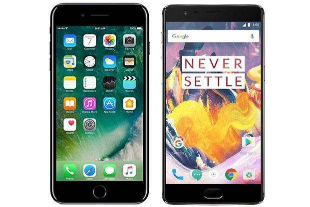 OnePlus 3T (right) offers 3,400mAh battery and 128GB internal storage.
