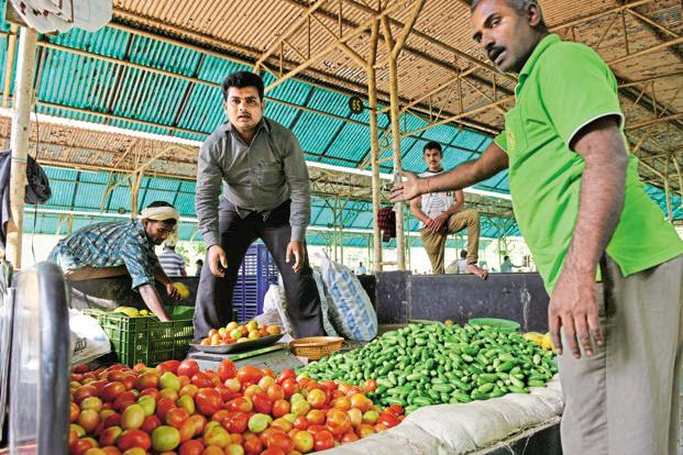 Food inflation was a mere 0.53% last month, pulled down by vegetable prices, which were lower by 15.6% than a year ago. Photo: Hemant Mishra/Mint