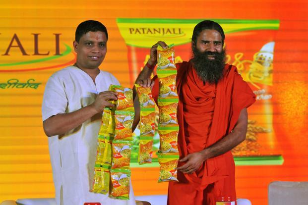 Ramdev launched noodles just a week after Nestle India relaunched Maggi noodles in the market. Photo: HT