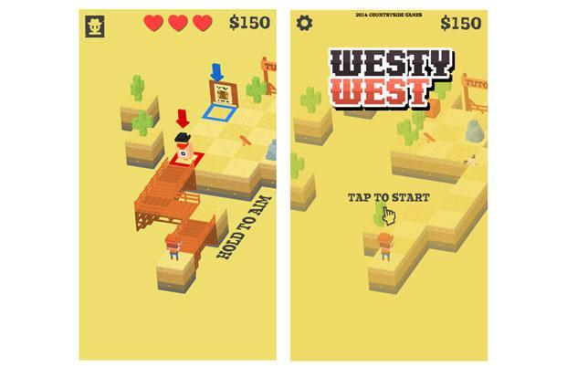 Westy West is a third person shooting game which looks a lot like an arcade games from the early 90s