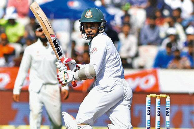 Mushfiqur Rahim scored a century in Hyderabad. Photo: PTI
