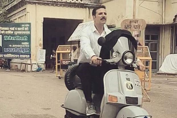 Actor Akshay Kumar in a still from the recently released 'Jolly LLB 2'.