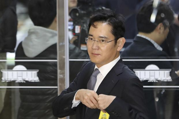Prosecutors have accused Lee of giving bribes worth $36 million to President Park Geun-hye and her long-time friend in order to win government favours for a company leadership transition. Photo: AP