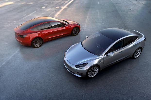 A file photo of Tesla's Model 3. While the interior of the six-figure Model S and Model X are minimal and refined, they lack any true sense of indulgence. Photo: Reuters