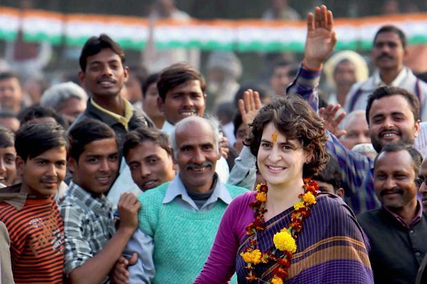 Priyanka Gandhi is campaigning in the ongoing Uttar Pradesh elections along with brother and Congress vice-president Rahul Gandhi. Photo: PTI