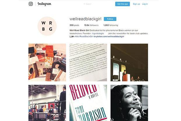 #WellReadBlackGirl, has a staggering Insta-following of over 13,000.
