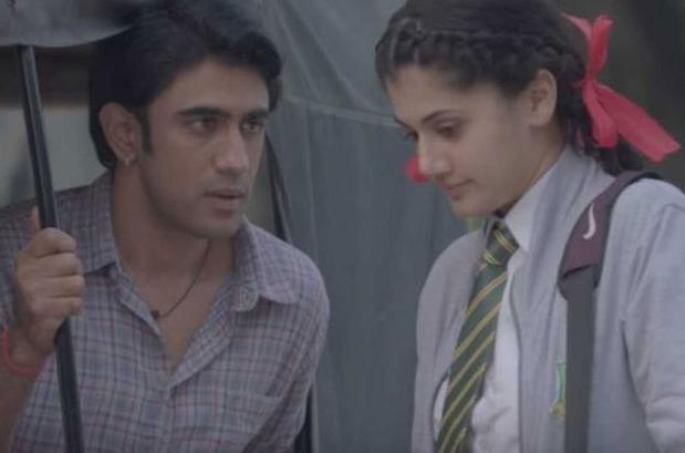 Amit Sadh and Taapsee Pannu in a still from 'Running Shaadi'.