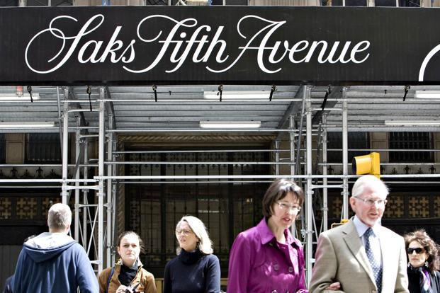 Saks Fifth Avenue will be aiming to tap the rich with family wealth of over Rs25 crore or annual income in the range of Rs3-4 crore. Photo: Bloomberg