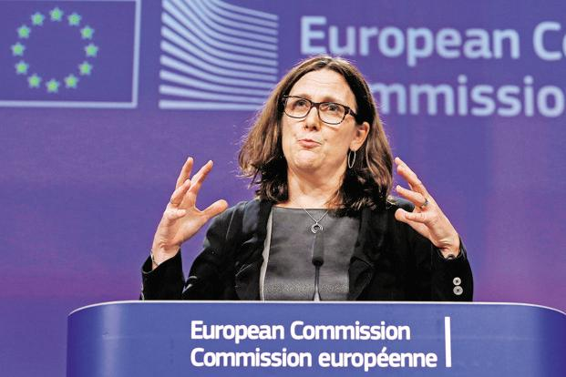 European trade commissioner Cecilia Malmström had proposed EU and India first negotiate a bilateral investment treaty before they restart talks for the free trade agreement. Photo: Reuters