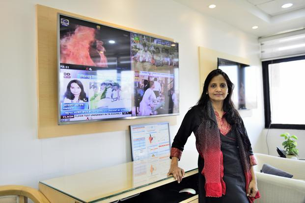 Doordarshan director general Surpiya Sahu. Prasar Bharti is looking to re-introduce TV shows from the 1980s including 'Hum Log', 'Malgudi Days' and 'Circus' on DD National. Photo: Priyanka Parashar/Mint