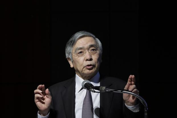 In a speech last week, Bank of Japan governor Haruhiko Kuroda noted that a fall in nominal interest rates is eroding profits of financial institutions. Photo: Bloomberg