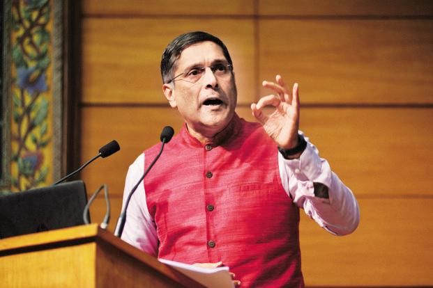 Chief economic adviser Arvind Subramanian has proposed setting up a public asset rehabilitation agency to fix the balance sheets of both struggling banks and indebted companies. Photo: Pradeep Gaur/Mint