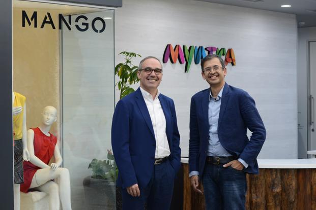 Daniel Lopez Garcia, board member- vice-president of Mango and Ananth Narayanan CEO Myntra. Photo: Hemant Mishra/Mint