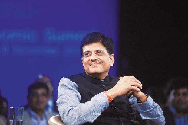 Power minister Piyush Goyal. India had solar capacity of 9,012.69MW as of 31 December 2016. Photo: Ramesh Pathania/Mint