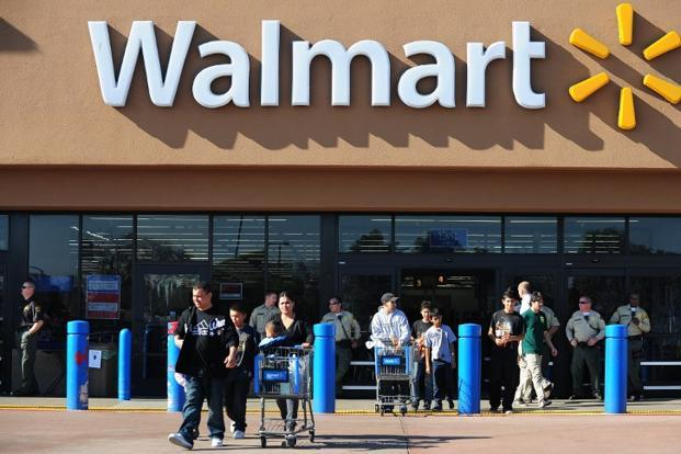 Walmart has been expanding grocery pickup in the US, with 600 locations currently, and it plans to double that number by next year. Photo: AFP