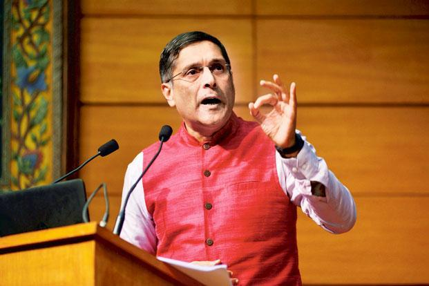Arvind Subramanian says a pre-requisite for Universal Basic Income is a functional Jan Dhan, Aadhaar and Mobile system that ensures cash transfers directly to the accounts of beneficiaries. Photo: Pradeep Gaur/Mint