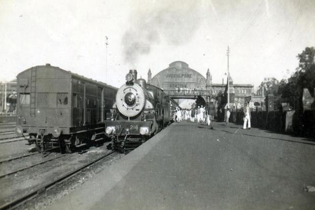 Locomotive No.216 stationed at the Jubbulpore (now Jabalpur) station in the 1930s.Photo: David Churchill