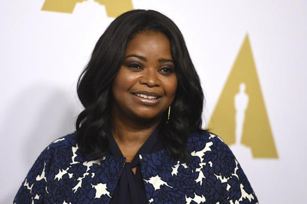 Octavia Spencer is nominated for an Oscar for best supporting actress for her role in 'Hidden Figures.' Photo: AP