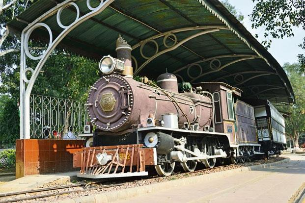 A locomotive from Southern Mahratta Railway at the National Rail Museum in Delhi. Photo: Priyanka Parashar/Mint.