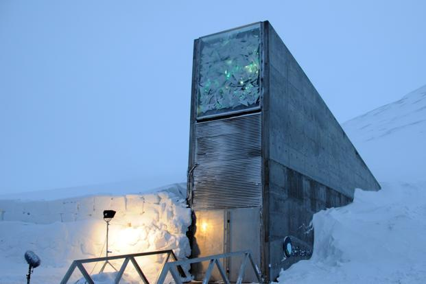 Svalbard Global Seed Vault is a secure seed bank located on the Norwegian island of Spitsbergen in the remote Arctic Svalbard archipelago, about 1,300 kilometres from the North Pole.
