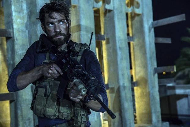 John Krasinski portrays Jack Silva in a scene from the film, '13 Hours: The Secret Soldiers of Benghazi'. Photo: Christian Black/Paramount Pictures via AP