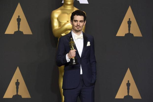 Damien Chazelle took the Oscar on Monday over a field that included Denis Villeneuve for 'Arrival', Mel Gibson for 'Hacksaw Ridge', Kenneth Lonergan for 'Manchester by the Sea', and Barry Jenkins for 'Moonlight.' Photo: AP