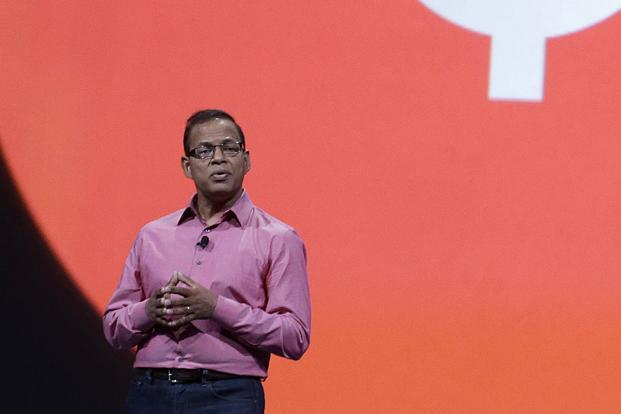 File photo. Amit Singhal stepped down just a month after joining Uber as senior vice president of engineering, where he oversaw software development, the company said. Photo: AP