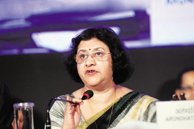 State Bank of India chairman Arundhati Bhattacharya was upbeat on the economy said there are signs activity is rebounding sharply, citing a strong recovery among companies after an initial drop in sales triggered by the cash ban. Photo: Indranil Bhoumik/Mint