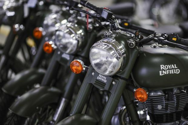 Royal Enfield's exports in February grew by 7.11% to 1,702 units as compared to 1,589 units the year-ago. Photo: Bloomberg