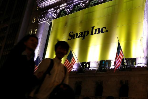 The maker of disappearing photo app Snapchat, based in Los Angeles, is the first technology or communications company to go public in the US in 2017. Photo: Reuters