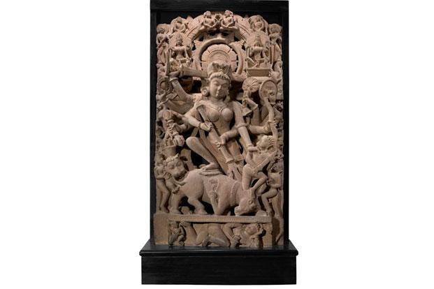 A sandstone sculpture, 10th-11th century, from the Uttar Pradesh or Madhya Pradesh area, valued at Rs3-5 crore.