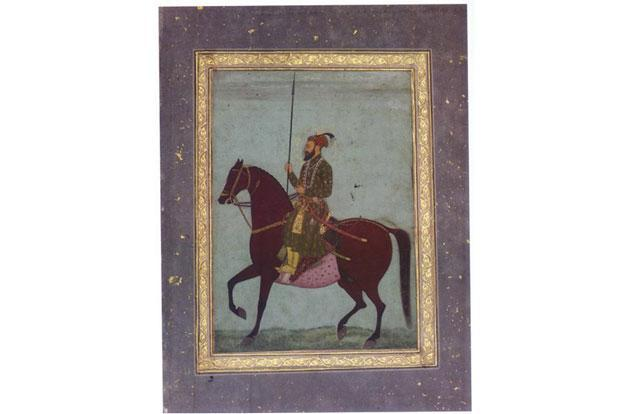 A portrait of Aurangzeb circa 17th century from the book Aurangzeb: The Man And The Myth.