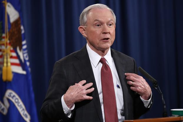 A file photo of US attorney general Jeff Sessions. Photo: AFP