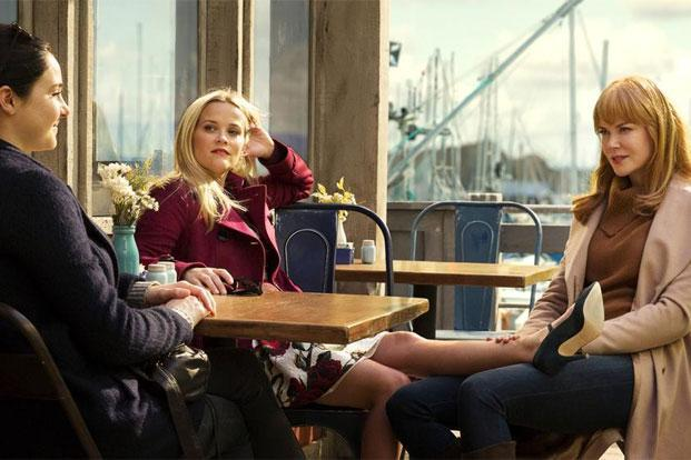 Reese Witherspoon (centre), Nicole Kidman (right) in a still from 'Big Little Lies'.