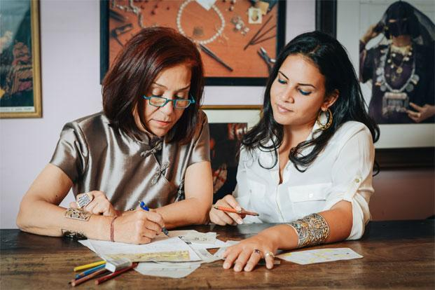 Mother-daughter designer duo: Azza Fahmy and Amina Ghali. Photo: Nour El Refai